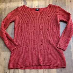 Fate • Red Loose Knit Sweater
